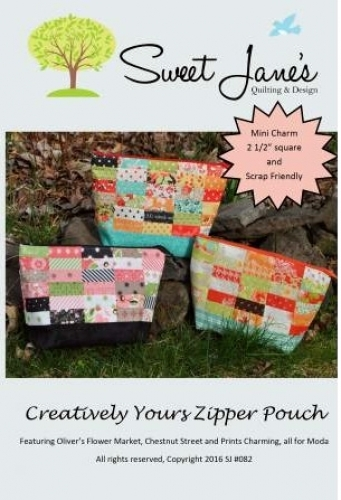 Creatively Your Zipper Pouch Pattern by Sweet Janes Quilting & Design 7018516504...