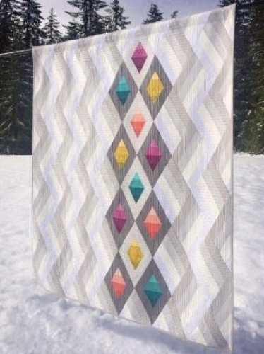 Cut Loose Press - Woven Jewelbox Quilt Pattern CLPKMS003 - Quilt in a Day Patter...