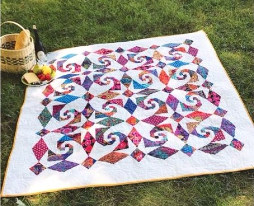 Cut Loose Press - Snails Trail Al Fresco Pattern CLPJAW068 - Quilt in a Day Patt...