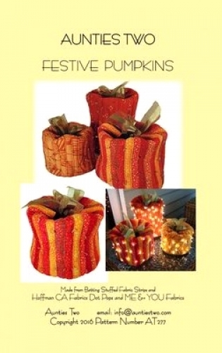 Festive Pumpkins by Aunties Two Pattens 850616002772 - Quilt in a Day Patterns
