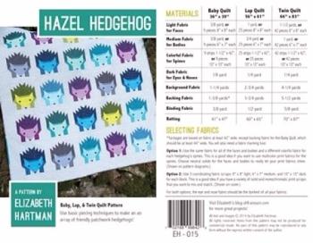 HAZEL HEDGEHOG PATTERN EH015 Elizabeth Hartman