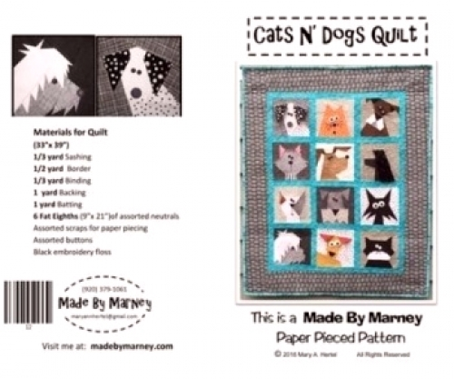 Cats N' Dogs Quilt by Marney 744674434128 - Quilt in a Day Patterns