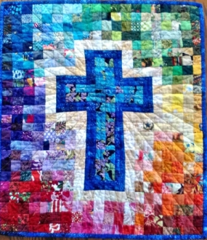 Rainbow Cross Quilt Pattern