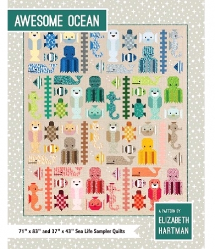Quilt Pattern - Awesome Ocean - 71x83 & 37x43