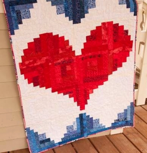 Cut Loose Press - I Love America Quilt Pattern CLPJAW020 - Quilt in a Day Patter...