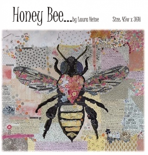 Honey Bee Collage Pattern by Laura Heine