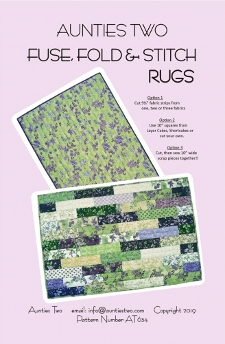 Aunties Two-Fuse, Fold & Stitch Rugs Pattern