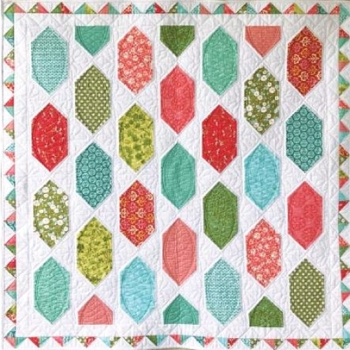 Cut Loose Press - Easy Street Crib Quilt Pattern CLPPSQ003 - Quilt in a Day Patt...