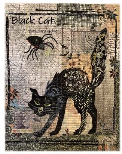 Black Cat Collage Pattern by Laura Heine 724696748298 - Quilt in a Day Patterns