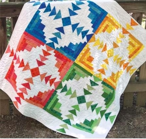Four Seasons Log Cabin Quilt Pattern CLPJAW072