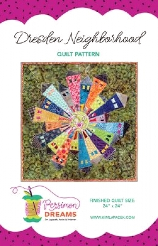 Dresden Neighborhood Mini Quilt Pattern by Persimon Dreams