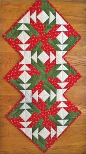 Cut Loose Press - On Point Runner Pattern CLPDHE020 - Quilt in a Day Patterns