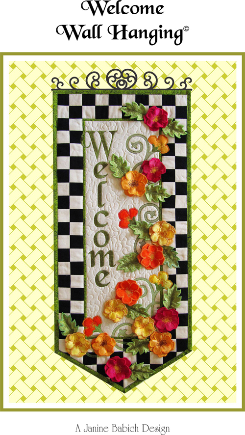 CD Welcome Wall Hanging Machine Embroidery by Janine Babich 015568679872 - Quilt...