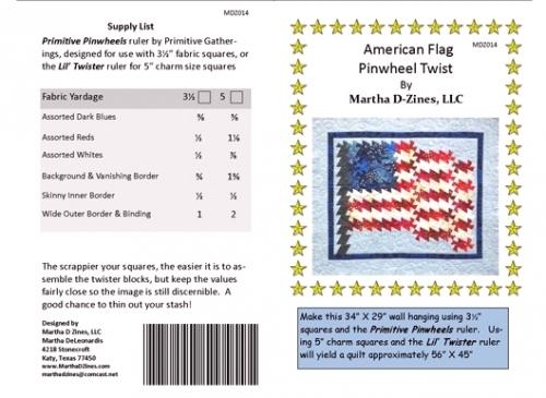 American Flag Pinwheel Twist MDZ014 - Quilt in a Day Patterns