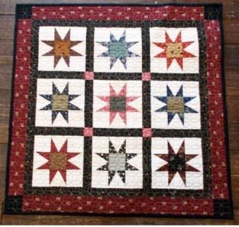 Cut Loose Press - Strippy Stars Mini CLPDHE006 - Quilt in a Day Patterns