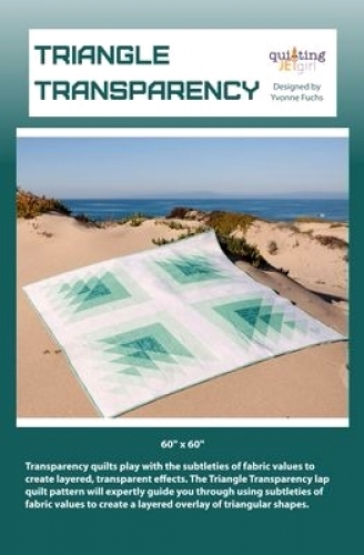 Triangle Transparency by Quilting Jet Girl 763684721479 - Quilt in a Day Pattern...