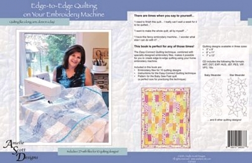 Edge to Edge Quilting on your Embroidery Machine -