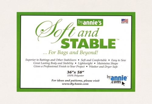 By Annies Soft and Stable White 100% Polyester Stabilizer 36in x 58in