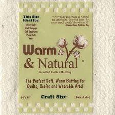 Warm & Natural Batting - Crib Size 34x45