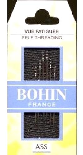 Bohin Self/Easy Threading Needles Size 3/8 6ct - 01099