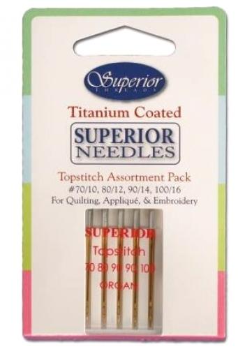 Superior Titanium Coated Topstitch Needle Assortment Pack