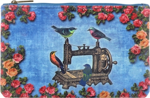 Floral Birds Sewing Machine Pouch