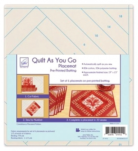 Quilt As You Go placemat preprinted batting