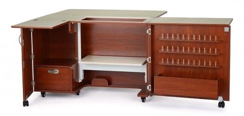 Kangaroo Kabinets Wallaby II Sewing Cabinet Teak Drop Ship - 650873840502 Quilti...