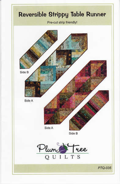 Reversible Strippy Table Runner from Plum Tree Quilts