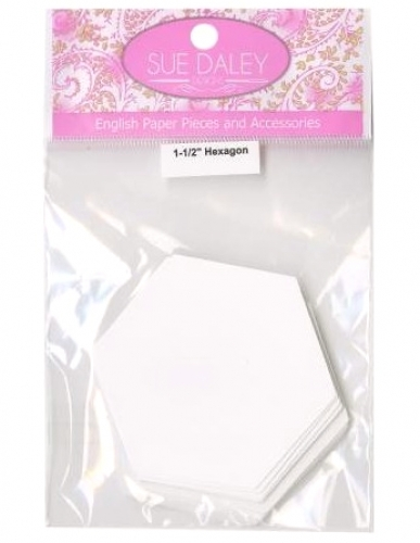 Sue Daley - 1 1/2 inch Hexagon Papers 100 pcs