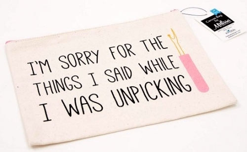 I'm sorry for the things I said...Large Canvas Zipper Bag