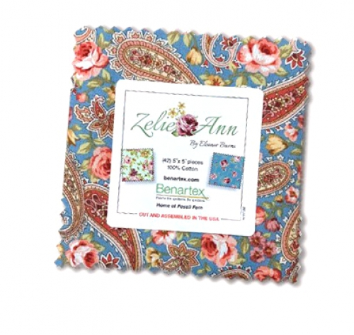 Benartex - Zelie Ann 5x5 Pack by Eleanor Burns