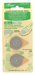 28mm Clover Rotary Blade Refill - 051221522642 Quilting Notions