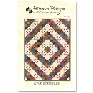 Atkinson Designs: Star Sprinkles Quilt Pattern 643053001411 - Quilt in a Day Pat...