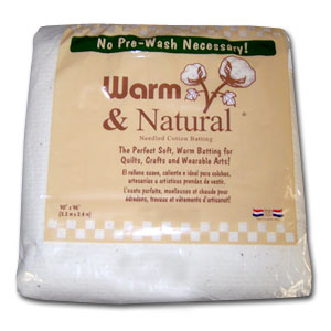Warm & Natural Quilt Batting - Queen Size - 753705023415 Quilt in a Day / Battin...