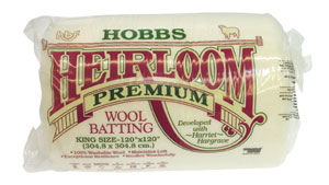 Hobbs Heirloom Premium Wool Quilt Batting - King -120x120