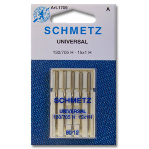 Schmetz Sewing Machine Needles 80/12 Universal - 036346317090 Quilting Notions
