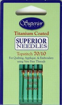 Topstitch Titanium Coated Needles Size 70/10 5ct