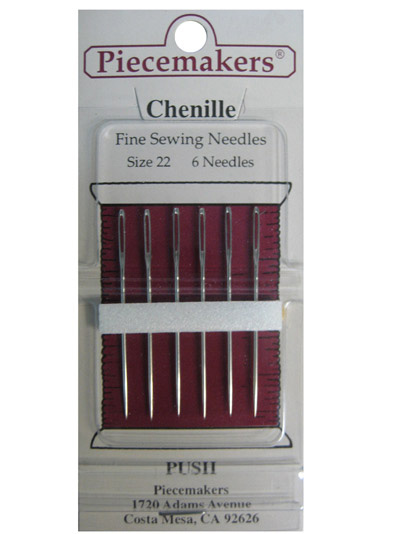 Piecemakers Chenille Needles Size 18-22