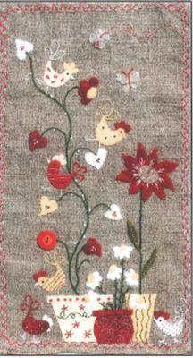 Poules Dans Les Coeurs (Hens In The Hearts) Pattern ADI-122