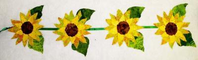 Sunflowers Wall Garland Pattern BS2-353
