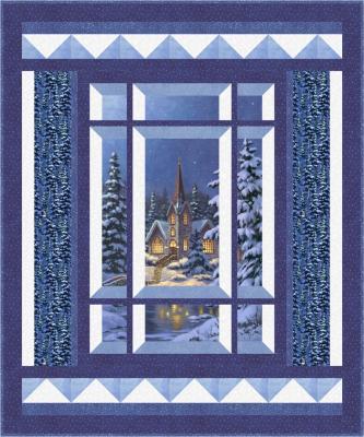 Modern Window Silent Night Quilt Pattern BS2-473