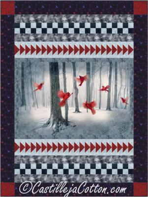 Winter Cardinals Quilt Pattern CJC-5138 Castilleja