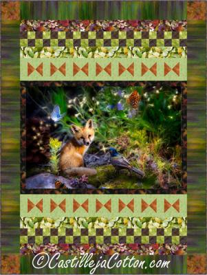 Fox and Butterflies Quilt Pattern - CJC-51791