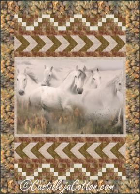 Wild Gray Horses Quilt Pattern CJC-53111