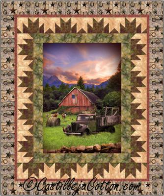 Barn and Truck Quilt Pattern