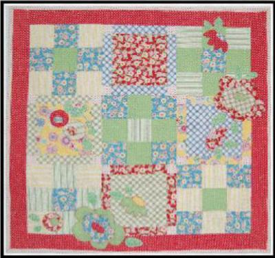 Item#P.A-0004 - Ring around the Posies Pattern - 42x42 - Kari Ramsay Fresh Cut Quilts