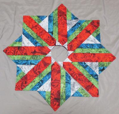 Holiday Dressing Tabletop Tree Skirt Pattern - Hedgehog Quilts - HHQ-7459