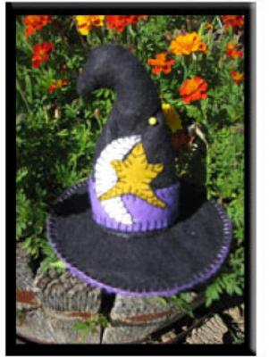 Broomhilda's Hat Pincushion Pattern PLD-780 by Pearl Louise Designs^