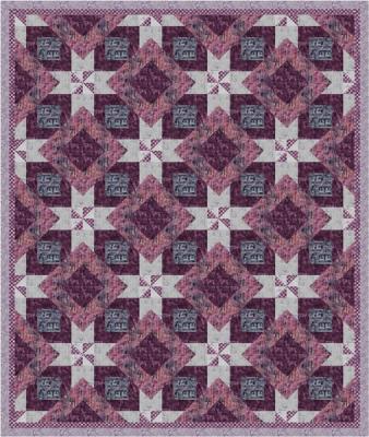 Peppermint Forest Quilt kit-Snowberry